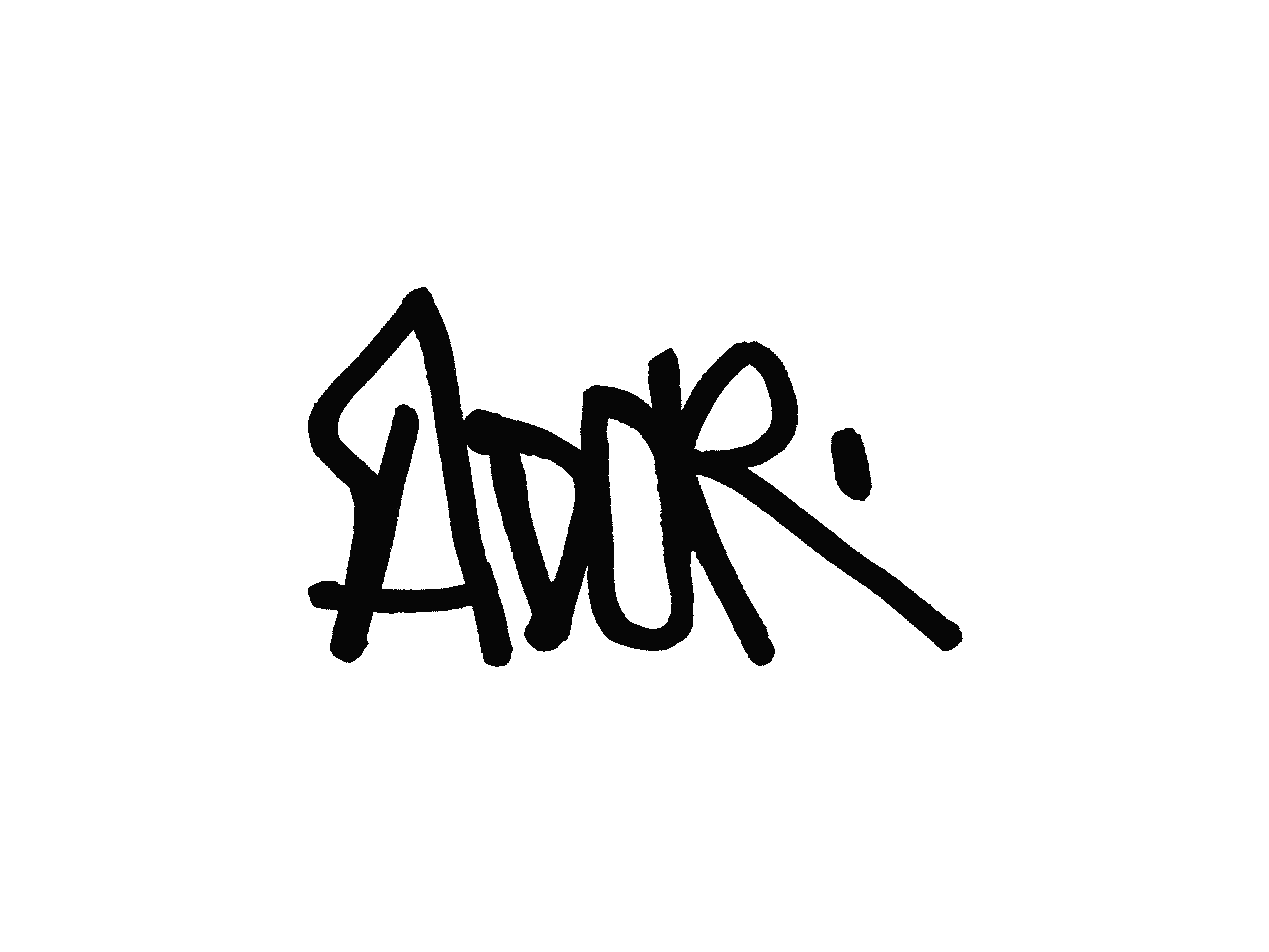 Signature de l'artiste ADOR