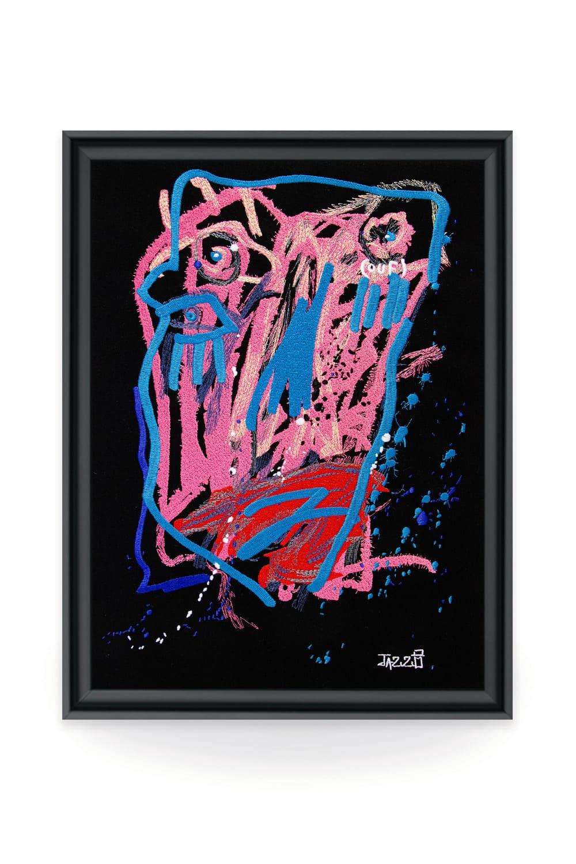 C'est par l'art de la broderie que l'artiste contemporain Jazzu déverse ses émotions. Un savoir-faire artisanal qui offre des oeuvres d'art brodées faites sur-mesure à l'image de l'artistes.