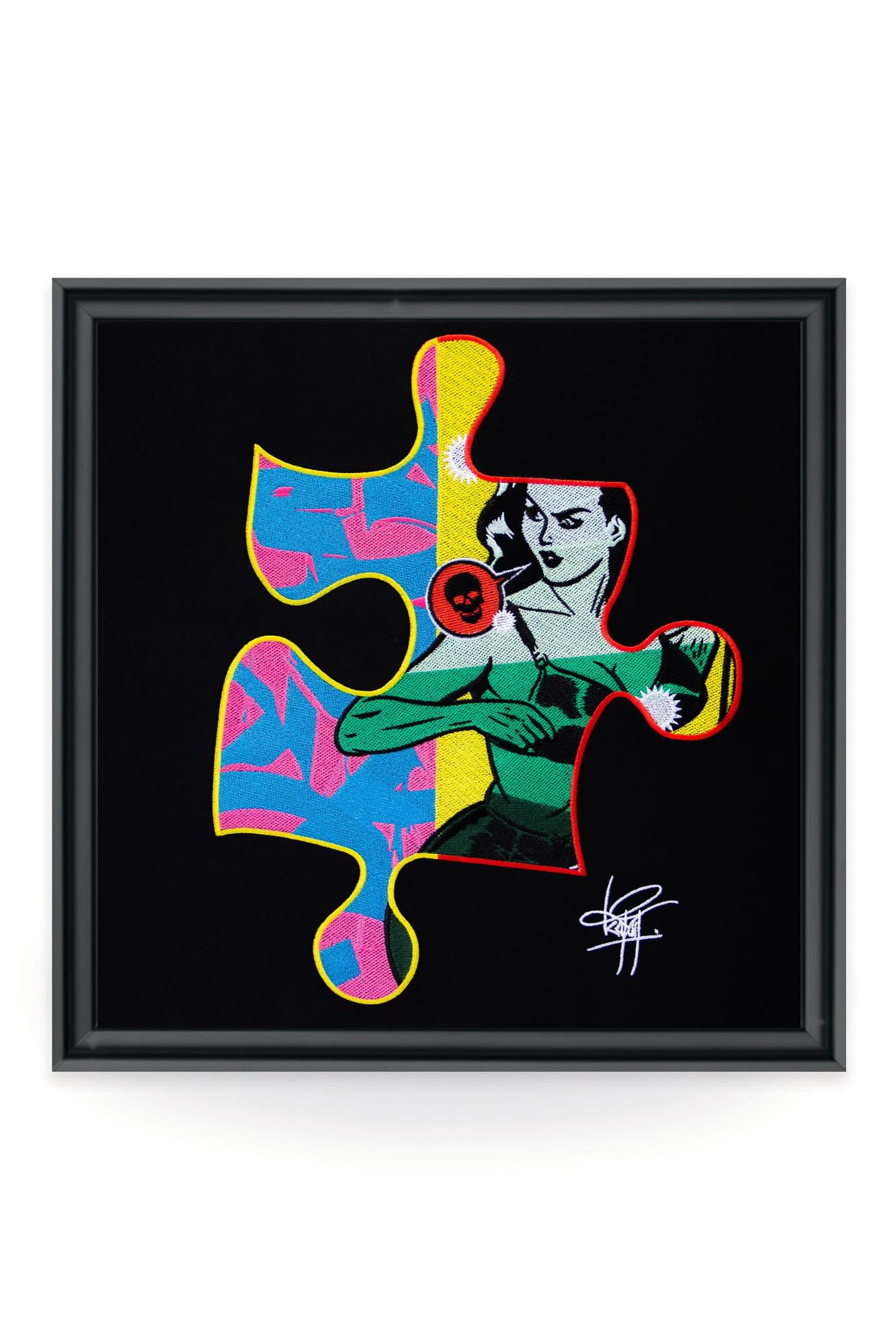 Réputé pour ses puzzles originaux, l'artiste et graffeur Keymi a imaginé une toile brodée unique qui donne le droit d'obtenir une certification NFT.