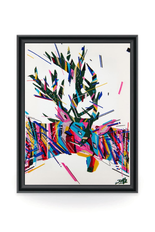 Le graffiti artiste DACO fait le choix d'un vecteur innovant pour illustrer son art : la broderie d'art.
